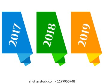year - paper stickers