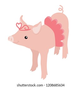 The year of the pig vector illustration