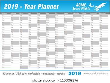 Year Planner Images Stock Photos Vectors Shutterstock