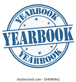Yearbook grunge rubber stamp on white background, vector illustration