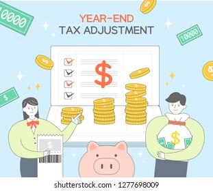 Year-end tax adjustment Illustration
