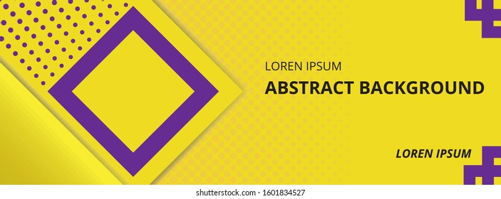 yellow abstract background. banner background. background