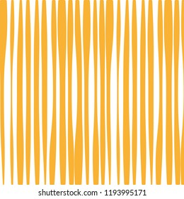 Yellow abstract lines pattern. Wavy background. Vector illustration, flat design