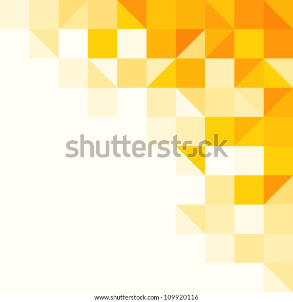 Yellow Abstract Pattern - Triangle and Square pattern in yellow and orange colors