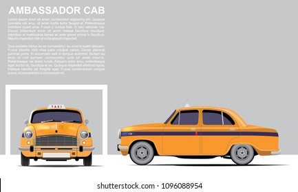 Yellow Ambassador Cab Taxi