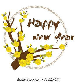 Yellow Apricot Flower, traditional lunar new year in Vietnam.