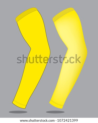 yellow arm sleeve template stock vector royalty free 1072421399