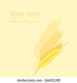 yellow background for a label or a poster with a picture of wheat ears