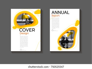 yellow background modern cover design modern book cover abstract Brochure cover  template,annual report, magazine and flayer layout Vector a4