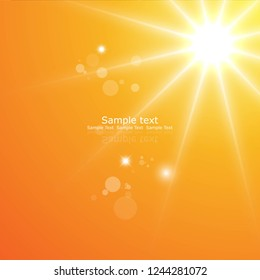 yellow background with sun and circle.logo design vector