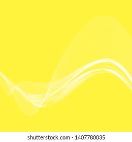 Yellow background, white smoke waves