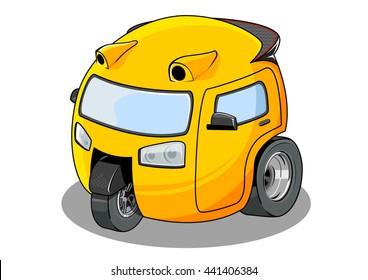 Yellow Ball Car