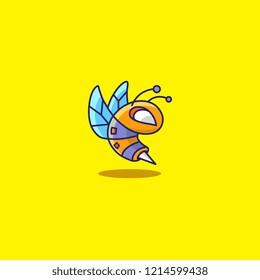 Yellow Bee Bot Character