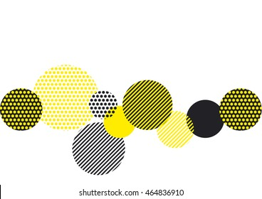 yellow and black abstract geometry pattern. modern geometric motif. abstract vector illustration for cover, annual, poster