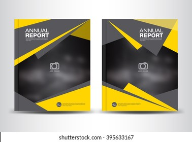 Yellow and black Annual report template, polygon background, brochure flyer, cover design, portfolio, Leaflet, presentation ,book, booklet, catalogs, magazine ads