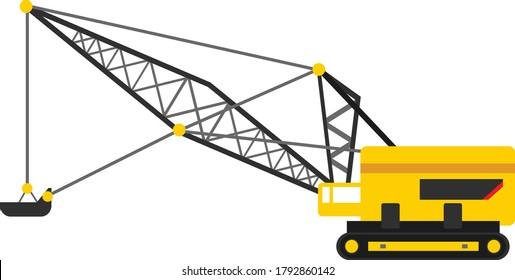 Yellow Black Dragline Vector Illustration