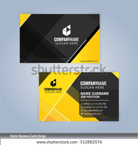 Yellow black modern business card template stock vector royalty yellow and black modern business card template illustration vector 10 accmission Choice Image