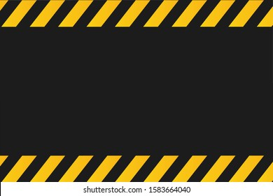 Yellow and black police background to alert the danger area.