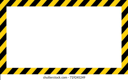 Yellow and black stripes on the diagonal, rectangular warning sign, symbol, illustration