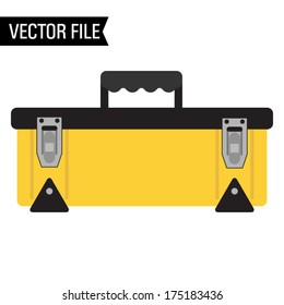Yellow and Black Vector Toolbox
