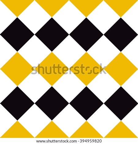 Yellow Black White Diamond Background Vector Stock Vector (Royalty