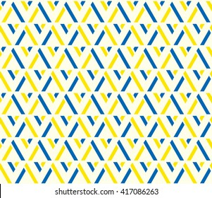 Yellow and blue color lattice argyle seamless pattern background vector.