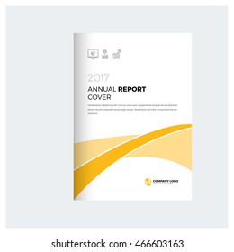 Yellow business multipurpose annual report brochure flyer design template vector, Leaflet cover presentation abstract geometric background, modern publication poster magazine, layout in A4 and A3 size