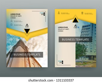 Yellow Business template. Flayer or advertising abstract background for delivery, energy business