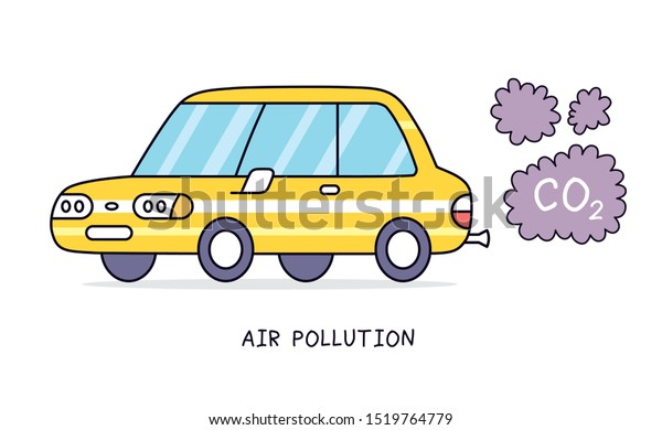 Car Exhaust Smoke Clouds Isolated Air Pollution Vector Illustration — Stock  Vector © ghrzuzudu #175741742