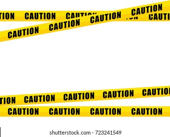 yellow caution tape, isolated on white background