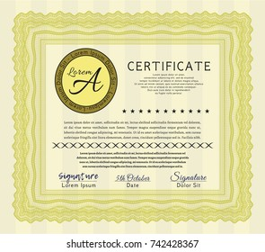 certificate paper nature vector template stock vector royalty free