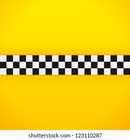 Yellow Checkerboard Pattern - Taxi black and white checks for New York cab