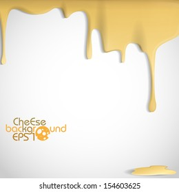 Yellow Cheese Background. Vector Illustration. Eps 10.