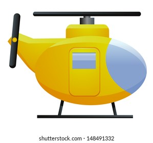 Yellow Chopper Helicopter