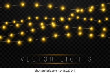 Christmas Fairy Lights Illustration.Christmas Fairy Lights Stock Vectors Images Vector Art