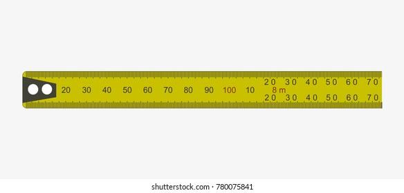 Yellow clasic ruler vector