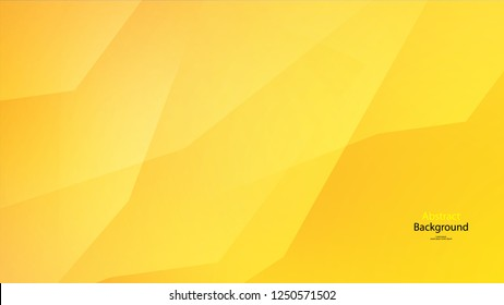 Yellow color abstract geometric background art vector