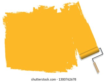 Yellow color background, painted background that can be used for corporate document presentations