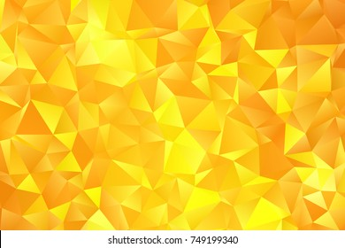 Yellow color geometric rumpled triangular low poly style gradient illustration graphic background. Polygonal design for your business. Vector illustration eps 10.