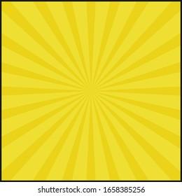Yellow color shiny starburst. Illustration design.