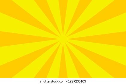 yellow color sunburst background design, background vector illustration