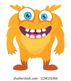 A yellow colored horrifying creature with open mouth and teeth coming out ready to attack, yellow monster