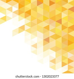 Yellow colors abstract triangular grid pattern