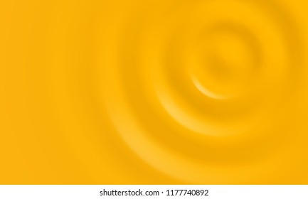 Yellow creamy background with gold cream gel and jelly texture. Vector liquid cheese dip sauce or mustard splash wave and paint drop flow