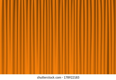 yellow curtain with many shadow (vector)