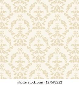 yellow damask seamless pattern