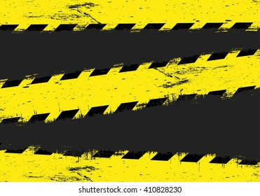 Yellow danger lines on dark background.