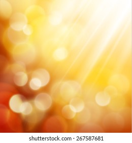 Yellow defocused lights background - eps10