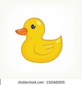 Yellow Duck Baby Toy vector design