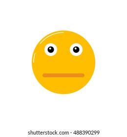 orange emoji sad face angry emoticon stock vector royalty free
